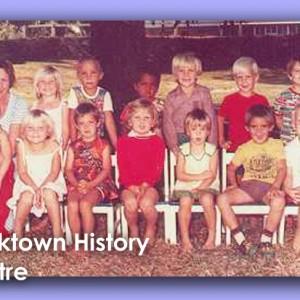 Kindergarten 1978. Top Row (L-R) Megan Logan, Bruce Harrigan, Mark Harrigan, ……Innis,… Habberman, ..... Front Row: ……….., Linda Logan, Helen Whithear, ………, Felicity Flesser, Jamie Hughes, Chris Flesser